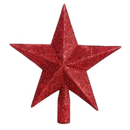 Puntale A Stella Per Albero Di Natale.Kodoria Puntale Per Albero Di Natale A Forma Di Stella A Punte