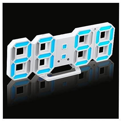 despertadores digitales, Sannysis despertador proyector luz amanecer LED relojes despertador de pared modernos Reloj de