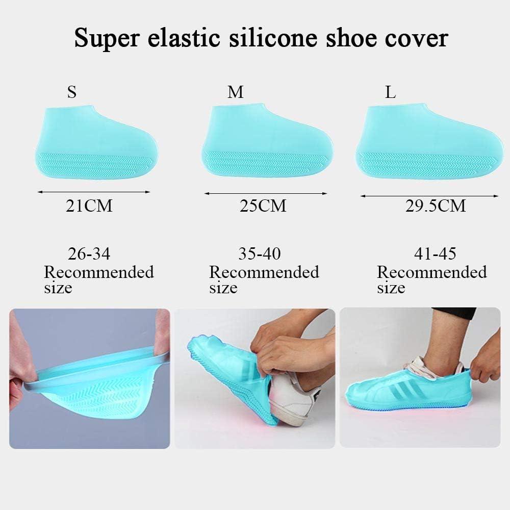 iClosam Couvre Chaussures Silicone Surchaussures Imperm/éables Semelle Antid/érapante Chaussures de Pluie R/éutilisables et R/ésistants