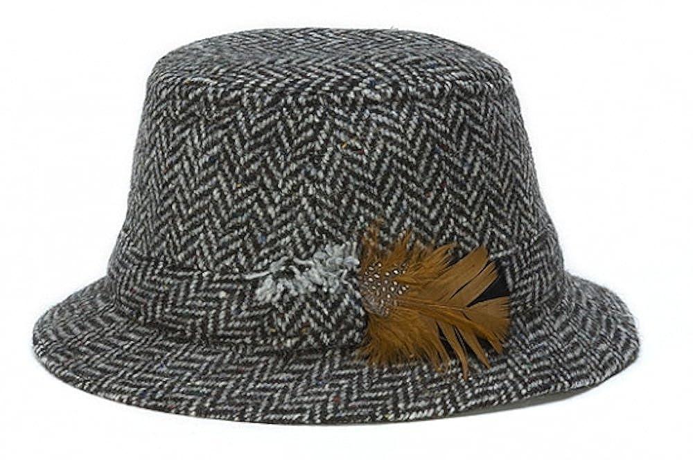 Hanna Hats Men's Donegal Tweed Original Irish Walking Hat