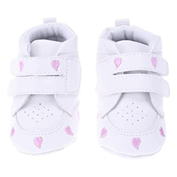 Amazon.com   Baby Shoes Newborn Boys Girls Heart Pattern First Walkers Kids  Sneakers   Baby ffb461682f1a