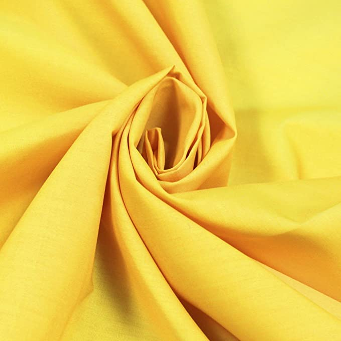 Polycotton dress fabric-Canary FREE Postage and Packaging.