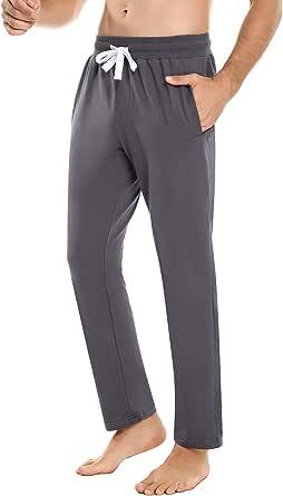 iClosam PantalóN Pajamas para Hombre AlgodóN Casual Deporte Pantalones Dormir Jogging Sweatpants