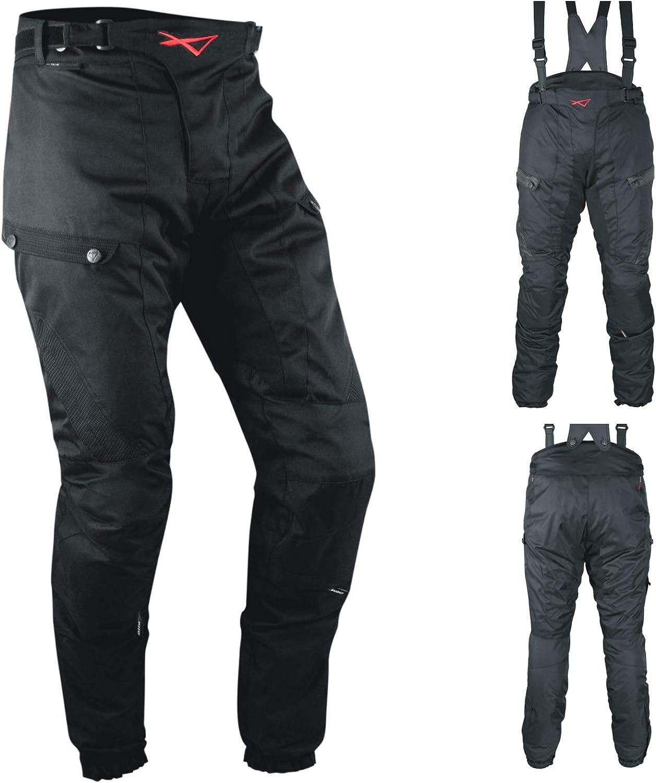 A-Pro Pantaloni Impermeabile Moto Termica Estraibile Strisce Riflettenti Nero 42