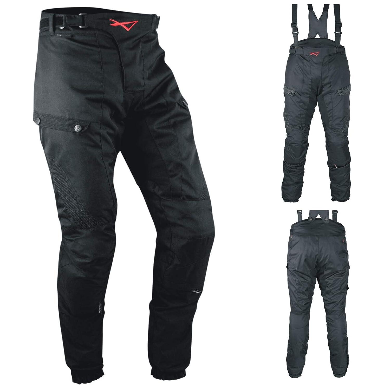 Pantaloni 3 Strati Moto Tessuto Cordura Impermeabile Sfoderabile Termico Uomo 32 A-PRO 5180000057954