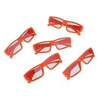 HOMYL 5 Pack Cinema 3D Glasses for 3D TVs – Child Sized Passive Circular Polarized 3D Glasses Orange