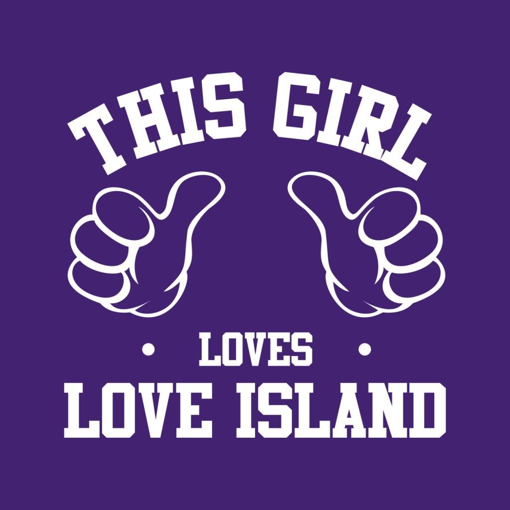 This Girl Loves Love Island Kid's Hooded Sweatshirt by Coto7 (Image #2)