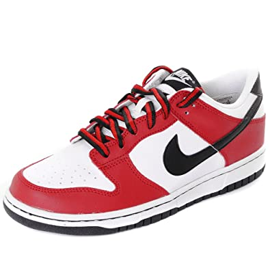buy online 590a8 94c2f Nike Dunk Low Trainers - WhiteBlackRed UK5.5
