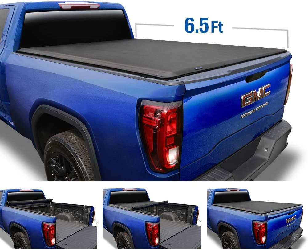 Tyger Auto TG-BC1C9005 Black 1 T1 Soft Roll Up Truck Bed Tonneau Cover for 07-2013 Chevy Silverado//GMC Sierra 1500; Fleet Side 8 Bed Without Utility Track TG-BC1C9005