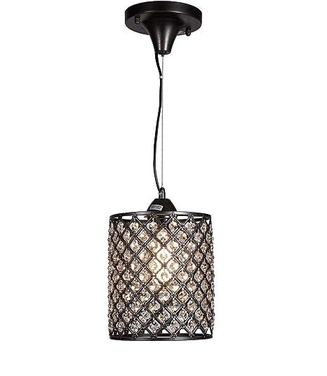 Amazon.com: Lámpara de techo colgante con acabado negro ...
