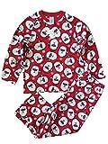 Girl's Size 5/6 Sunglass Santa Claus Fleece Christmas Pajama Set