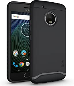 TUDIA Merge Designed for Motorola Moto G5 Plus Case with Dual Layer Protection (Matte Black)