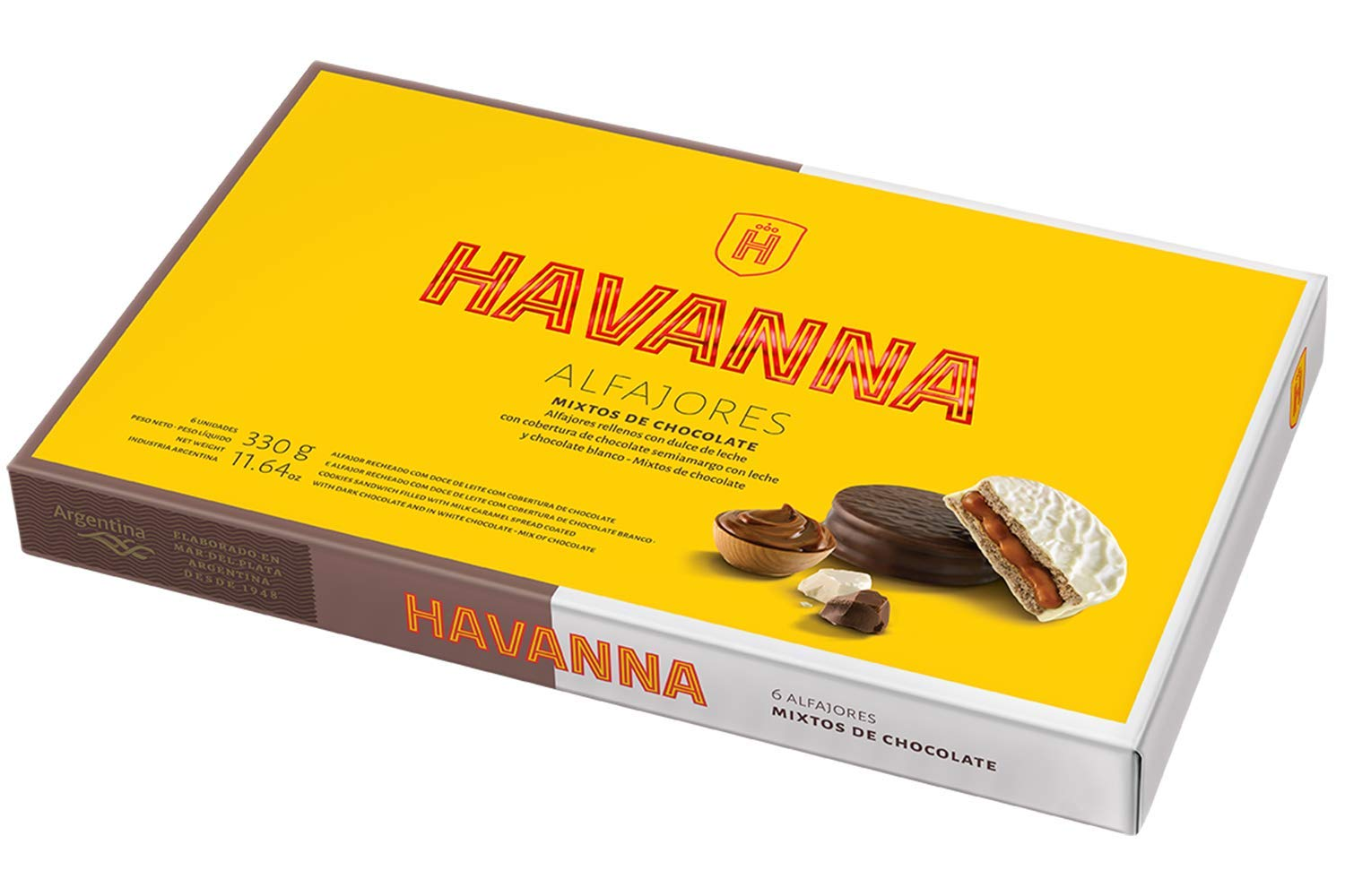 Amazon.com : HAVANNA Alfajores Gift Variety Pack | 18 alfajores | 1 box of dark & White chocolate, 1 box of meringue and 1 box of dark chocolate and ...