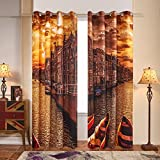 Cheap Fassbel 2 Panel Set Digital Printed Window Curtains for Bedroom Living Room Dining Room Kids Youth Room Window Drapes (W54× L84 Boat)