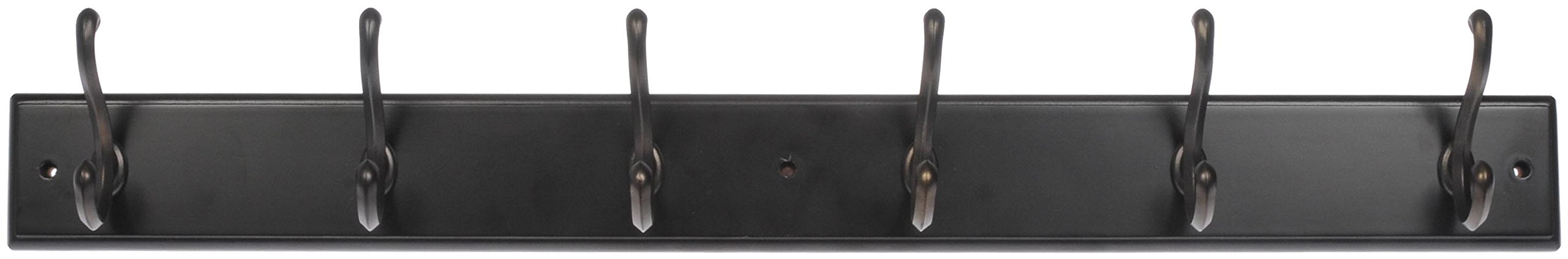 Dorman Hardware 4-1821 Hook Board with 6 Traditional Double Bronze Hooks, 27-Inch, Espresso Finish