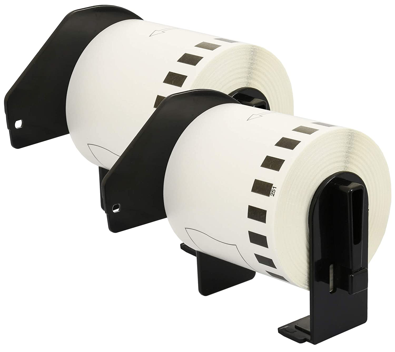 3x DK-22223 50 mm x 30,48 m Compatibili Etichette Nastri adesive continuo per Brother P-Touch QL-1110NWB QL-1100 QL-1060N QL-500 QL-500A QL-500BW QL-570 QL-580 QL-700 QL-710W QL-800 QL-810W QL-820NWB