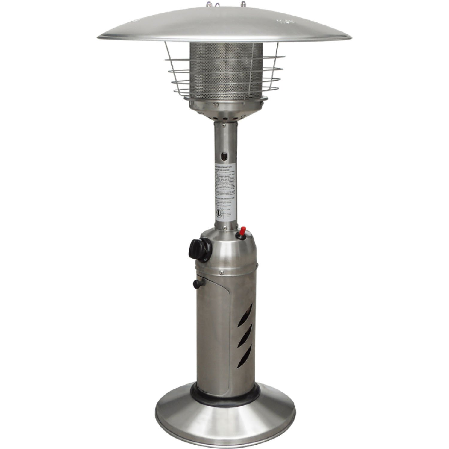 Hanover HAN0203SS Mini Umbrella Tabletop Propane Patio Heater