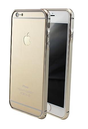 iPhone 6 6S 6 Plus + Slim CNC Elegante Aluminio Funda Carcasa Bumper Case Marco de Aluminio de Metal con Inoxidable Frame Esquinas Cover en Oro Gris ...