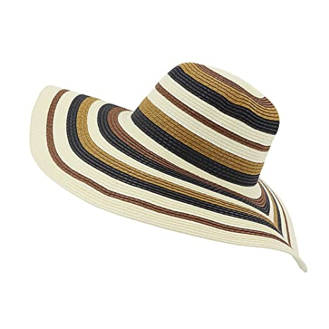 f6729826673c0 Gaojuan Women's Summer Hand-Woven Foldable Wide Brim Fisherman Hat 100% Raffia  Straw Sun