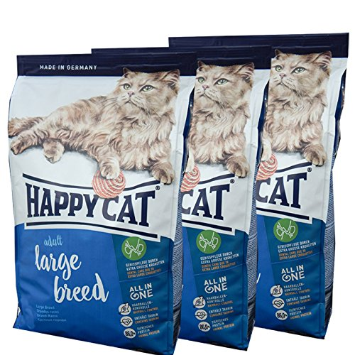 3 x 10 kg Happy Cat Katzenfutter Supreme Large Breed