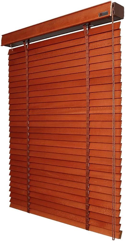 ZAQI persianas Opacas Impermeables para Ventanas de baño, persianas venecianas de Madera Anti-UV, Color Nogal, 65 cm/75 cm/85 cm/100 cm/120 cm/140 cm de Ancho: Amazon.es: Hogar