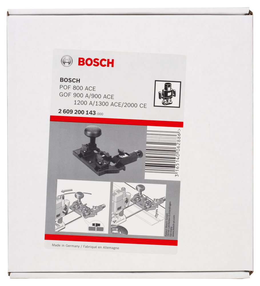 Black Bosch 2609200143 Circle Cutting Guide and Rail Adapter