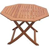 Homegarden Runder Holztisch Für Den Garten Klappbar 120 Cm Amazon