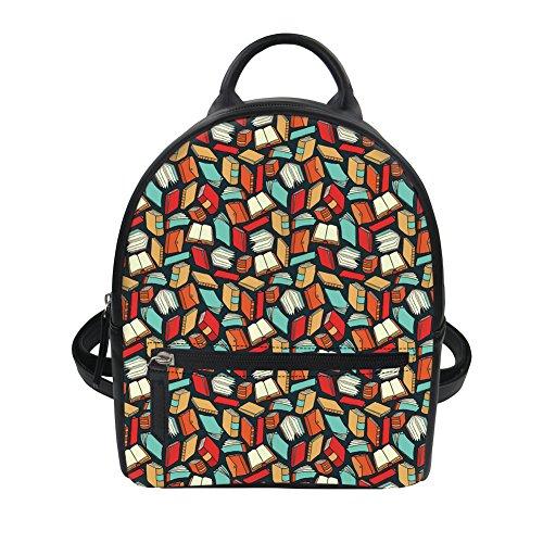 HUGS IDEA Y-H8535Z4 - Bolso mochila para mujer Teacher Pattern 20.5X10X23.5CM Book Lovers