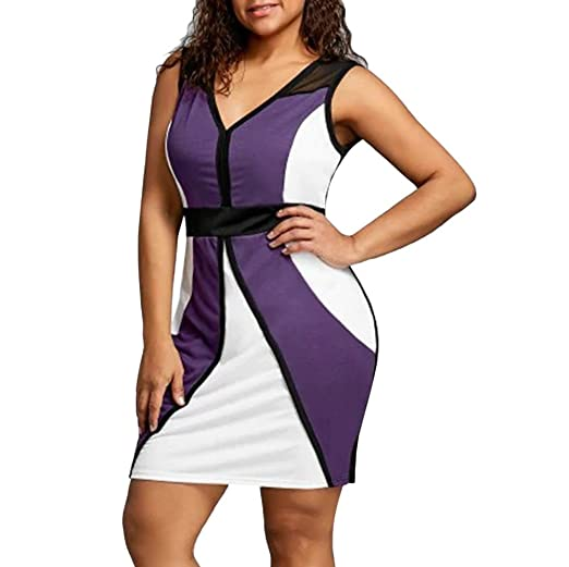 1a818f9e8a6 Chanyuhui Women Tunic Tops Dresses On Sale Lady Plus Size Bodycon Sleeveless  Evening Party Mini Dress