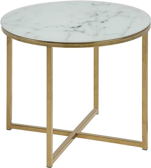 bianco 86,5 x 88 x 45 cm Movian Rom Tavolo da lampada Brand Lu x La x A