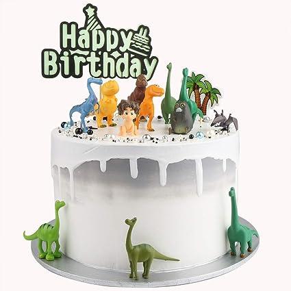 Dinosaur figurines Prehistoric cake decoration Decoset cake topper set toys