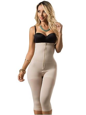 LT Rose 21998 Strapless Shapewear Full Body Shaper for Women Fajas  Colombianas Black