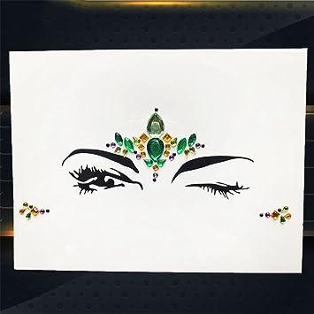 Amazon.com   Hot Sale Temporary Eye Gems Tattoo Stickers Girls Xmas Gifts  Women Eyeliner Decor Flash Face Colorful Rhinestone Jewel Evening PXBS04    Beauty 09b5a11fe83c