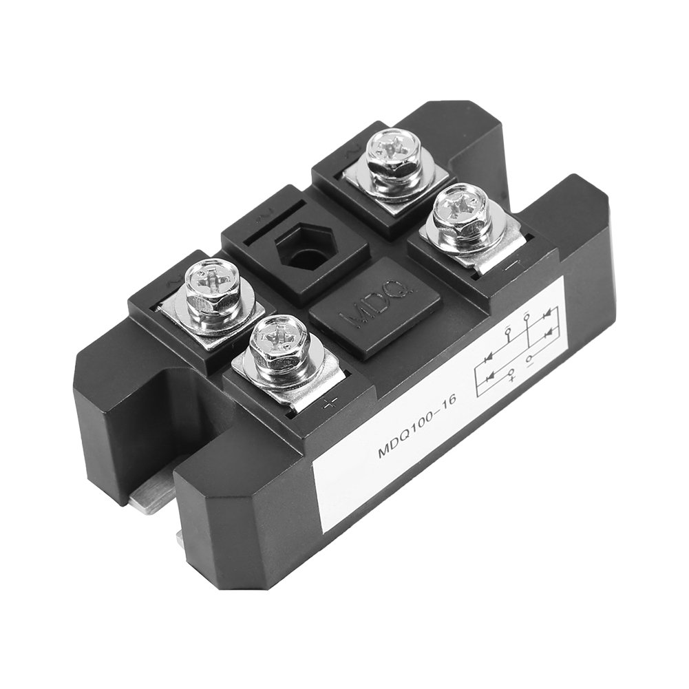 1pc Single-Phase Diode Bridge Rectifier Module 100A 1600V High Power 4 Terminals