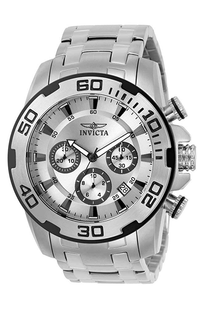 Invicta Men s Pro Diver Quartz Watch with Stainless Steel Strap, Silver, 26 Model 22317-I