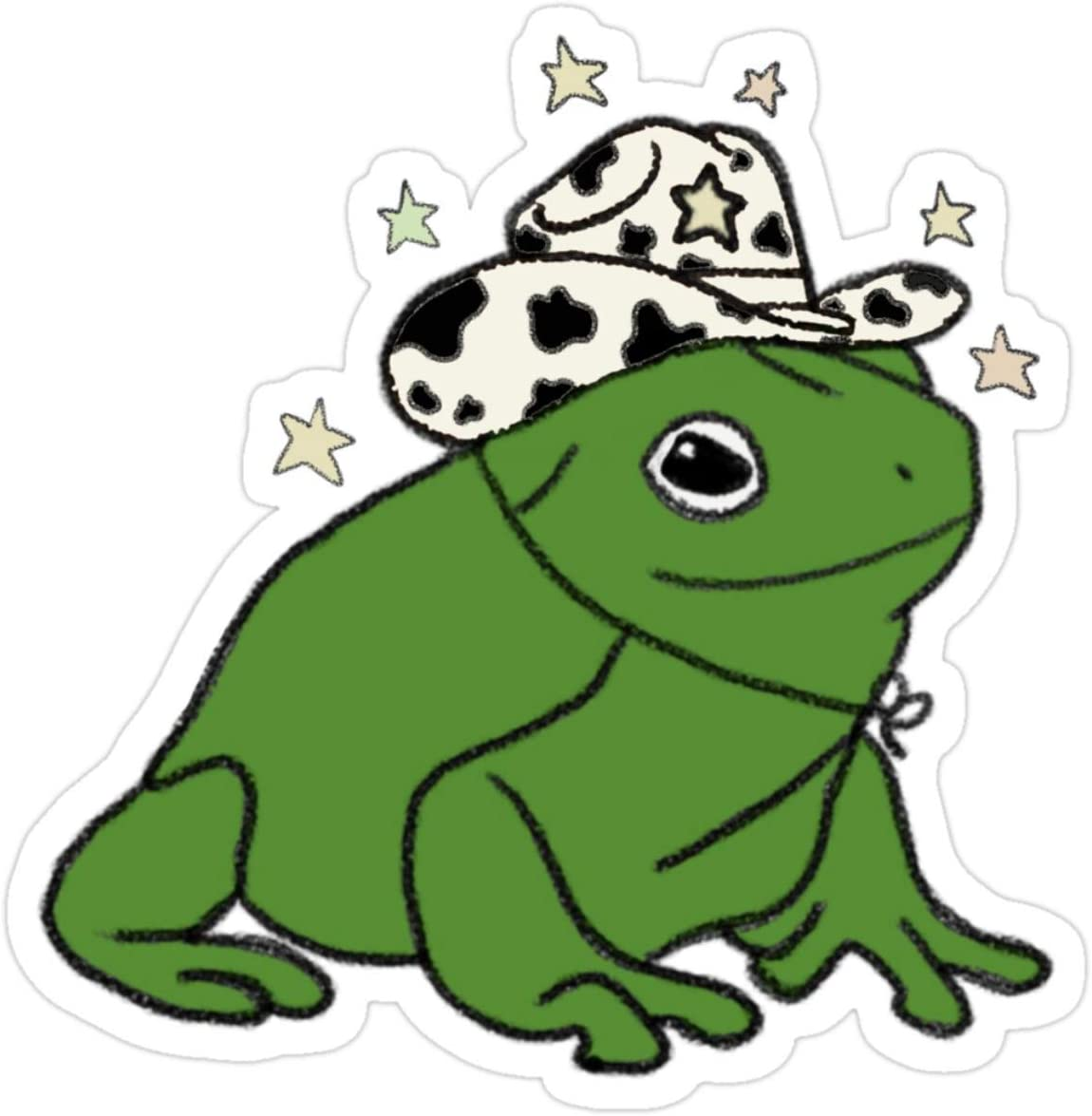 Stickers Frog with A Cowboy Hat Laptop Decals (3 Pcs/Pack) 3x4 Inch Bag Backpack