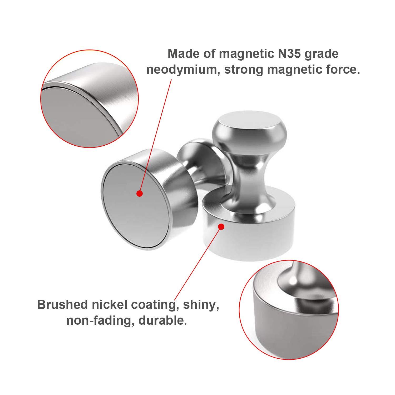 Neodym Stahl Kegelmagnet 12mm x 16mm N35