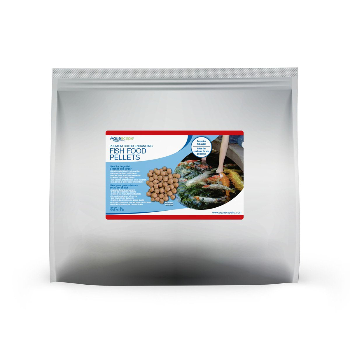 Aquascape Premium Color Enhancing Fish Food Pellets for Pond, Koi, Goldfish and More (11 Pound)