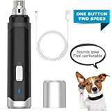 oneisall Dog Nail Grinder - Upgraded 2 Speed Quiet USB Rechargeable Professional Pet Nail Trimmer Paws Grooming & Smoothing Claw Care for Small Medium Large Dogs & Cats