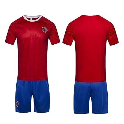 DLpf 2018 32 Costa Rica Uniforme de Fútbol para el hogar, Camiseta de Manga Corta