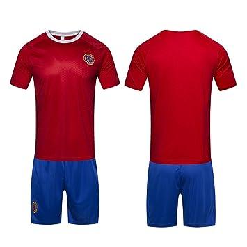 DLpf 2018 32 Costa Rica Uniforme de Fútbol para el hogar, Camiseta de Manga Corta Masculina Juego de Trajes de Fútbol, Recuerdos, L: Amazon.es: Deportes y ...