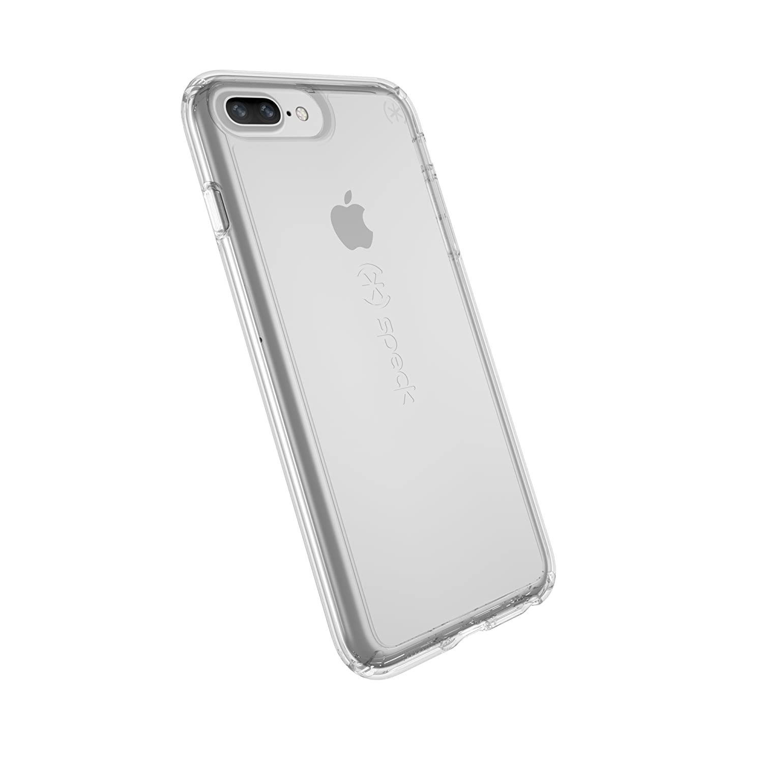 huge discount 9dd7a 43d73 Speck Products Gemshell Cell Phone Case for iPhone 8 Plus (Also fits 7 Plus  and 6S/6 Plus) - Clear/Clear
