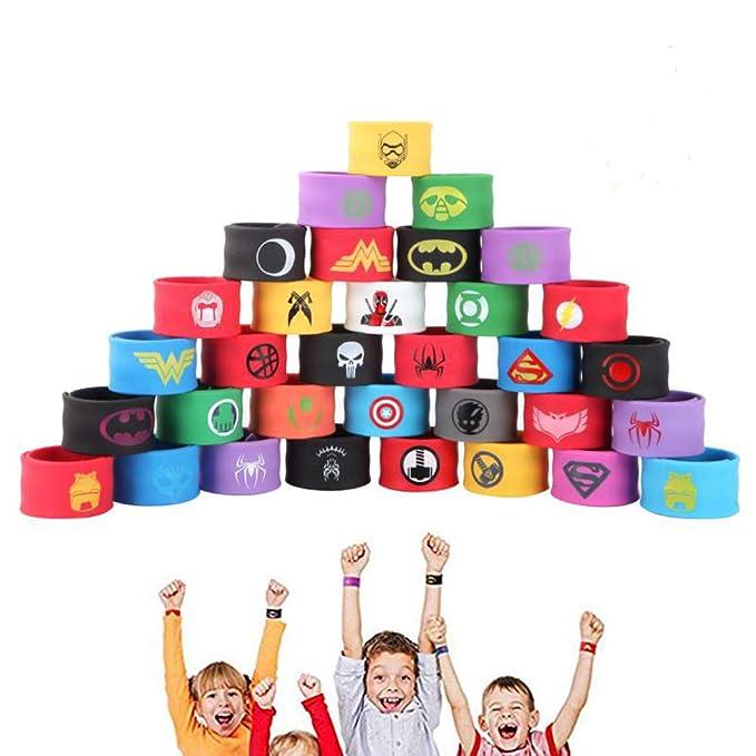16 opinioni per JunYito® Braccialetti di Supereroi 33 Pezzi Bracciali Bambini e Adulti Regalini
