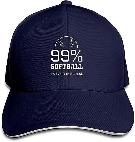 Softbol 99%. 1% Todo lo demás Gorra Unisex Sombrero de algodón de ...