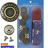 GHQ Brass Kit, 8 Set with Tool Jean Tack Buttons
