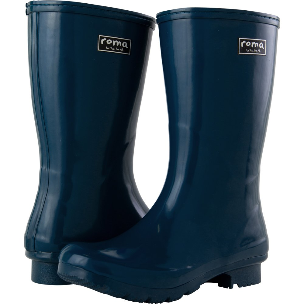 Roma Boots Women's Emma Short Rain Boot, Navy, 9 M US by Roma Boots (Image #2)