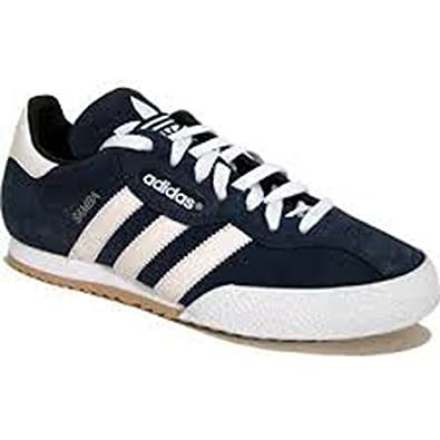 10dc536395416d Adidas Samba Super Suede Leather Indoor Soccer Shoe - Navy Suede White - UK  9.5