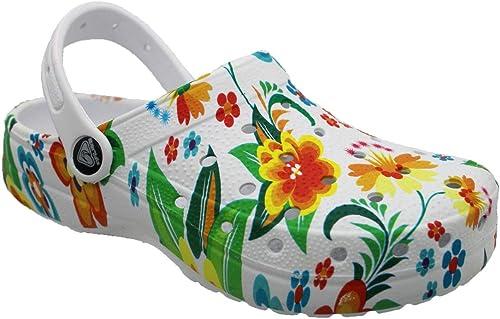 Eva Clogs 38811 - Chanclas de Mujer para el jardín, para el Tiempo Libre, cómodas Correas para el talón, Talla 36-41: Amazon.es: Zapatos y complementos