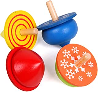 joofff 4 piezas Gyro clásica niño juego juego Spinning Top para ...