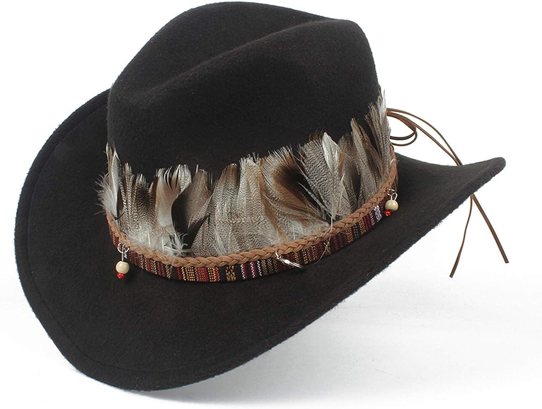BenKPooaK Child Wool Hollow Western Cowboy Hat Boy Girl Outblack Fascinator Leather Sombrero Hombre Jazz Cap